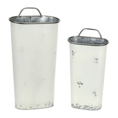 "Wall Bucket, Set of 2, 17""H, 21""H Metal"