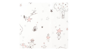 """Catch a Star"" Wallpaper, Cream and Pink"