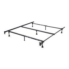 Pilaster Designs - Bartoli Metal Adjustable Bed Frame - Bed Frames