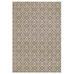 "Radici USA - Contemporary Area Rug, Beige, 7'10""x10'6"" - Size: 7 ft. 10 in. L x 10 ft. 6 in. W. Rectangular shape. Machine made. Pile height: 10mm. Made from polypropylene. Made in Turkey. Beautiful Machine Made Area Rugs made of durable and easy to clean olefin. Made using a heat-set technique to ensure a soft touch."
