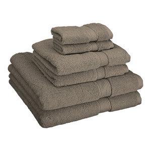 900 GSM  Super Absorbent 6-Piece Cotton Bath Towel Set, Charcoal