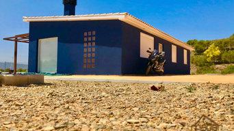 Casa de madera mixta 93 m2 azul