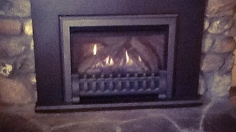 Direct vent gas fireplace insert
