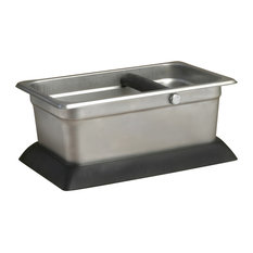 Stainless Steel Knock Box With Rubber Base
