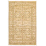 Unique Loom - Unique Loom Edinburgh Aurinia Area Rug, Cream, 5'x8' - The classic look of the Edinburgh Collection is sure to lend a dignified atmosphere to your home. With an array of colors and patterns to choose from, there�s a rug to suit almost any taste in this collection. This Edinburgh rug will tie your home�s decor together with class and amazing style.