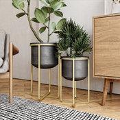 Rizzy Midcentury 2-Piece Planter Set