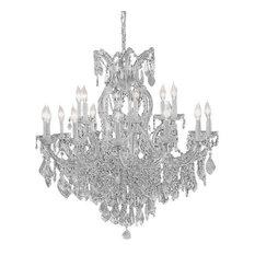 Swarovski Trimmed Crystal Chandelier Silver
