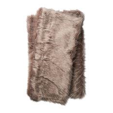 "Zora Throw Blanket, Gray, 4'2""x5'"