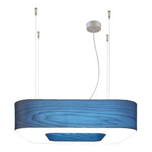 Icono Square Fluorescent Pendant Lamp, Blue, Medium
