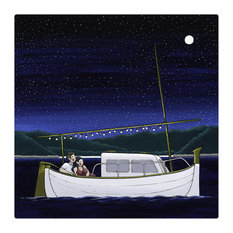 """Full Moon"" Art Print, 30x30 cm"