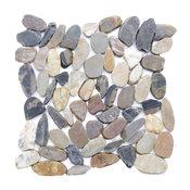"12""x12"" Sienna Mosaic Sliced Natural Stone Tiles, Set of 10"