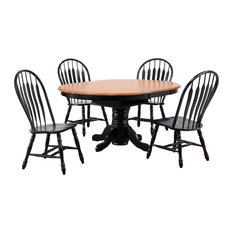 Sunset Trading 5 Piece Dining Set Comfort Back Chairs
