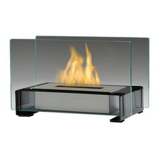 Toulouse Tabletop Ethanol Fireplace, Gloss Black