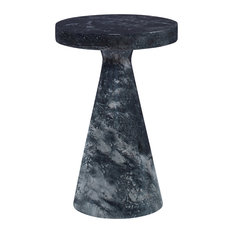 Mr. Brown Modern-Classic Bodega Black Marble Side Table