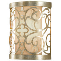Feiss 1-Light Silver Leaf Patina Sconce