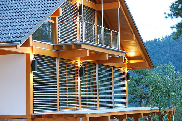 My Houzz German Prefab Home In The Colorado Mountains
