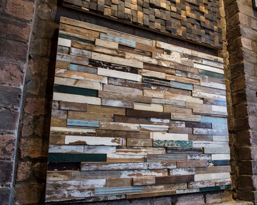 Reclaimed timber feature walls - Paints, Stains & Wall Coverings
