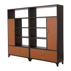 AICO Michael Amini 21 Cosmopolitan 2-Piece Bookcase Unit