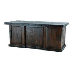 Burleson Home Furnishings Old World Rustic Gran Hacienda Executive File Desk Desks And Hutches