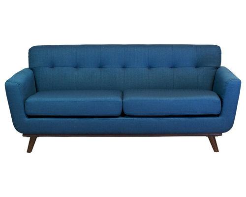 Austin Furniture   Tiffany 3 Seater Sofa, Blue   Sofas