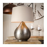Souk Hammered Silver Table Lamp Winston Taupe