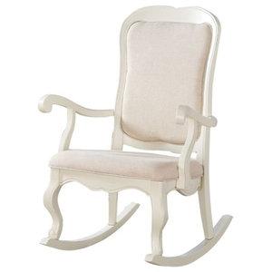 Java Lounge Swivel Rocking Chair Rattan Wicker White Wash