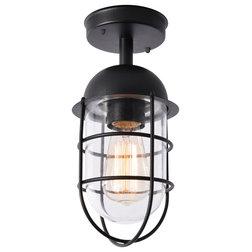 Industrial Outdoor Flush-mount Ceiling Lighting by Litecraft