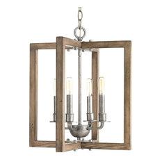 Turnbury 4-Light Chandelier, Galvanized