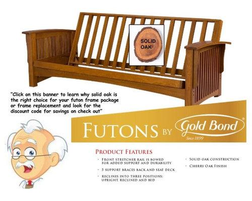 Solid Oak Wood Futon Frames By Gold Bond