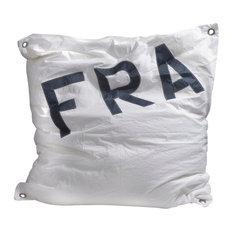 Recycled Sail Maxi Bean Bag, White and Grey