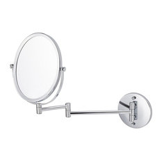 16.95-in. Oval Brass-Mirror Wall Mount Magnifying Mirror