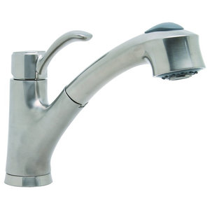 Moen Ca87316srs Renzo One Handle Pull Out Kitchen Faucet