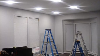 (11) Slim Led Panel Lighting Install Living and Dining Room