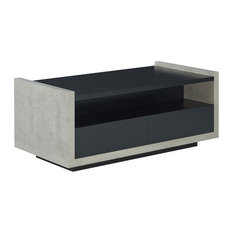 Furniture of America Gare Storage Coffee Table in Black