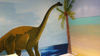 Wall painting ''dinosaur scheme''