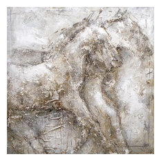 "Moes Home Collection FX-1085 39""x39"" Horse Acrylic Painting on Canvas"
