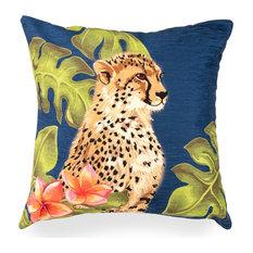 "Liora Manne Illusions Cheetahs Indoor/Outdoor Pillow, Jungle 18"" Square"