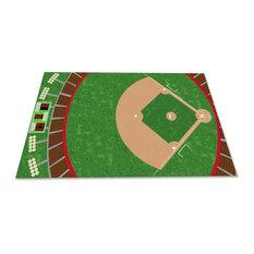 Baseball Stadium Rug