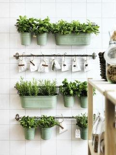 Come rendere meno verde una cucina verde - Tappeto di giunchi ...