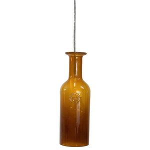 Retro Glass Carafe Pendant Light, Honey
