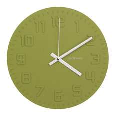 decomates decomates nonticking silent wall clock disc green tea wall