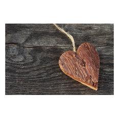 Wooden Heart Gallery Door Mat, Large