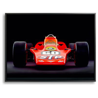 Lotus 56 Turbine, 1968, Front View by Rick Graves, 18x24 Canvas Print