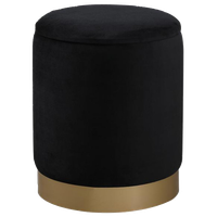 "14"" Home Living Round Ottoman (Black)"