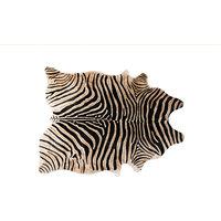 6'x7' Togo Cowhide Rug, African Zebra