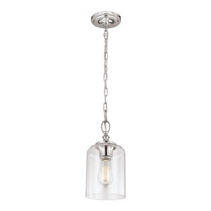 Hounslow Mini Pendant, Polished Nickel