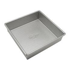USA Pan Aluminized Steel Square Cake Pan, 8 Inch