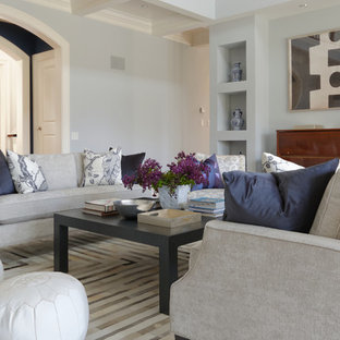 Huge transitional home design photo in Boston
