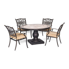 """Monaco 5-Piece, 4-Dining Chairs and 51"""" Round Table"""