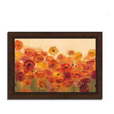 """Summer Poppies"" By Silvia Vassileva, Framed Painting Print, Ready To Hang"